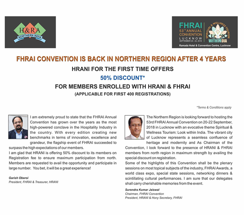Hotel and restaurant association of northern india registration for 53rd fhrai convention discounted tariff click here thecheapjerseys Images